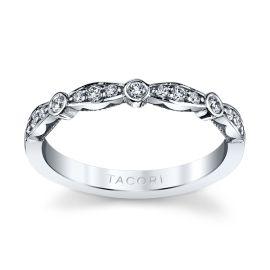 Tacori 18k White Gold Diamond Wedding Band 1/5 ct. tw.
