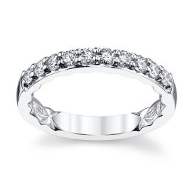 A. Jaffe 14k White Gold Diamond Wedding Band 1/2 ct. tw.