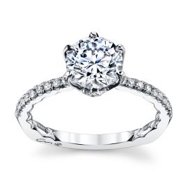 A. Jaffe 14k White Gold Diamond Engagement Ring Setting 1/3 ct. tw.