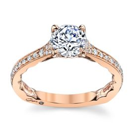 A. Jaffe 14k Rose Gold Diamond Engagement Ring Setting 1/6 ct. tw.