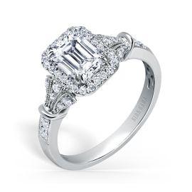 Kirk Kara 18k White Gold Diamond Engagement Ring Setting 1/4 ct. tw.
