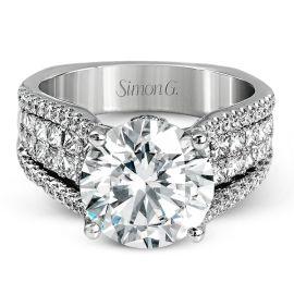 Simon G. 18k White Gold Diamond Engagement Ring Setting 1 1/3 ct. tw.
