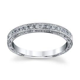Kirk Kara 18k White Gold Diamond Wedding Band 1/5 ct. tw.