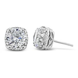 Tacori Jewelry 18k White Gold Earrings 1/6 ct. tw.