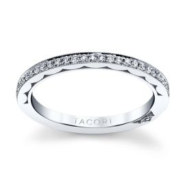 Tacori Platinum Diamond Wedding Band 1/6 ct. tw.