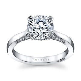 Tacori Platinum Diamond Engagement Ring Setting 1/5 ct. tw.