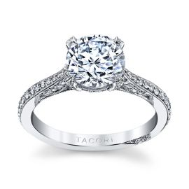 Tacori Platinum Diamond Engagement Ring Setting 3/8 ct. tw.