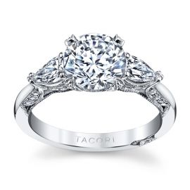 Tacori Platinum Diamond Engagement Ring Setting 3/4 ct. tw.