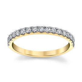 14k Yellow Gold Diamond Wedding Band 1/3 ct. tw.