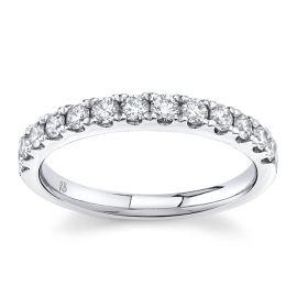Platinum Diamond Wedding Band 1/2 cttw