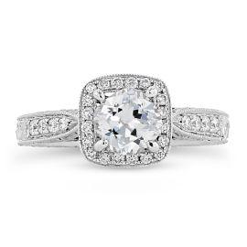 Pre-Owned Kirk Kara 18k White Gold Diamond Engagement Ring Setting 1/4 ct. tw.