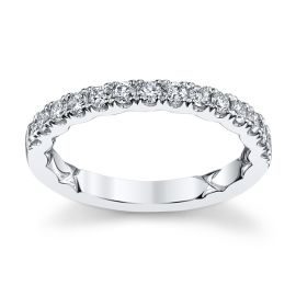 A. Jaffe 14k White Gold Diamond Wedding Band 1/2 ct. tw.