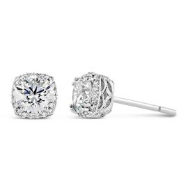 Tacori Jewelry 18k White Gold CZ Earrings 1/6 ct. tw.
