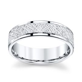 Gravure 14k White Gold 6 mm Wedding Band