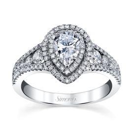 Simon G. 18k White Gold Diamond Engagement Ring Setting 5/8 ct. tw.