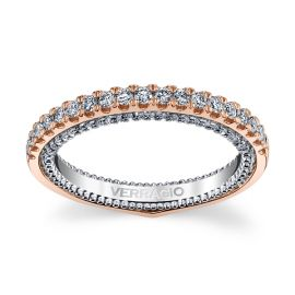 Verragio 18k Rose and 18k White Gold Diamond Wedding Band 3/8 ct. tw.