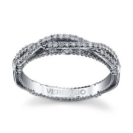 Verragio 14k White Gold Diamond Wedding Band 1/6 ct. tw.