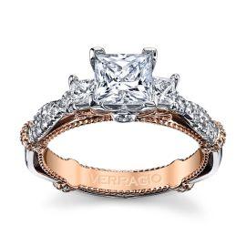 Verragio 14k White Gold and 14k Rose Gold Diamond Engagement Ring Setting 5/8 ct. tw.
