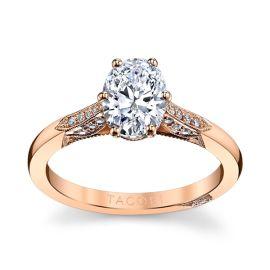Tacori 18k Rose Gold Diamond Engagement Ring Setting 1/10 ct. tw.
