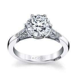Tacori Platinum Diamond Engagement Ring Setting 1/10 ct. tw.