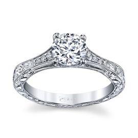 Coast Diamond 14k White Gold Diamond Engagement Ring Setting .07 ct. tw.
