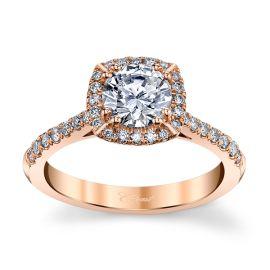 Coast Diamond 14k Rose Gold Diamond Engagement Ring Setting 1/3 ct. tw.