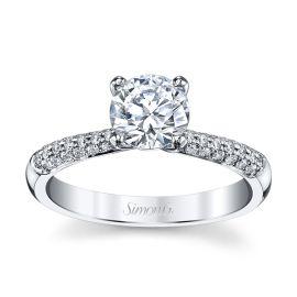 Simon G. Platinum Diamond Engagement Ring Setting 1/5 ct. tw.