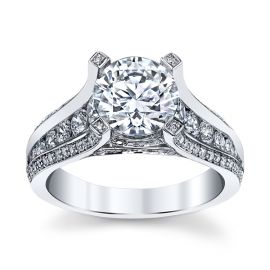 Michael M. 18k White Gold Diamond Engagement Ring Setting 1 ct. tw.