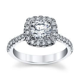 Coast Diamond 14k White Gold Diamond Engagement Ring Setting 3/8 ct. tw.