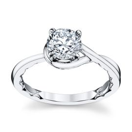 A. Jaffe 14k White Gold Engagement Ring Setting