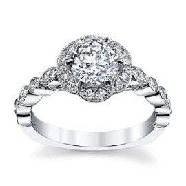 A. Jaffe 14k White Gold Diamond Engagement Ring Setting 1/3 ct. tw.