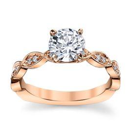 A. Jaffe 14k Rose Gold Diamond Engagement Ring Setting 1/10 ct. tw.