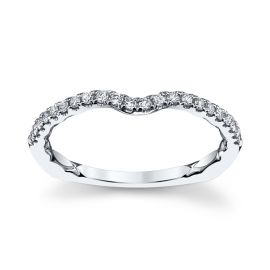 A. Jaffe 14k White Gold Diamond Wedding Band 1/6 ct. tw.