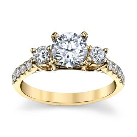 14k Yellow Gold Diamond Engagement Ring Setting 1/2 ct. tw.