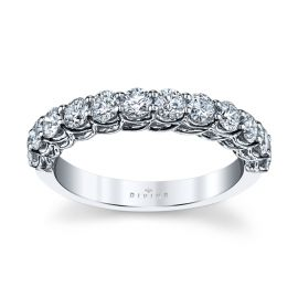 Divine 14k White Gold Diamond Wedding Band 7/8 ct. tw.