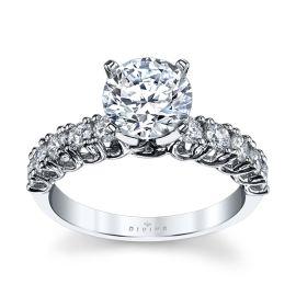 Divine 14k White Gold Diamond Engagement Ring Setting 5/8 ct. tw.