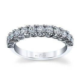 Divine 14k White Gold Diamond Wedding Band 5/8 ct. tw.