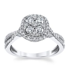 Cherish 14k White Gold Diamond Engagement Ring 3/4 ct. tw.