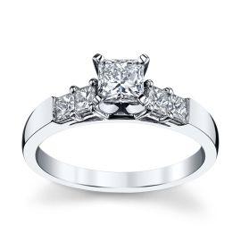 Utwo 14k White Gold Diamond Engagement Ring 3/4 ct. tw.