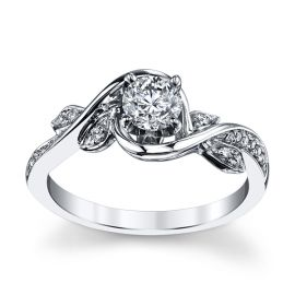 Utwo 14k White Gold Diamond Engagement Ring 1/2 ct. tw.