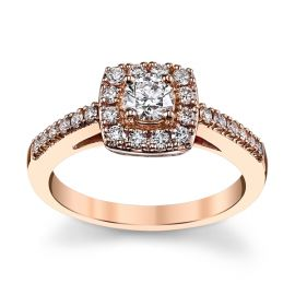 Cherish 14k Rose Gold Diamond Engagement Ring 5/8 ct. tw.