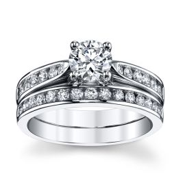 Utwo 14k White Gold Diamond Wedding Set 1 1/3 ct. tw.