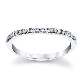 Eternalle Lab-Grown 14k White Gold Diamond Wedding Band 1/7 ct. tw.