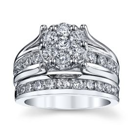 Mosaic Collection 14k White Gold Diamond Wedding Set 2 1/2 ct. tw.