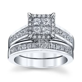 Mosaic Collection 14k White Gold Diamond Wedding Set 2 ct. tw.