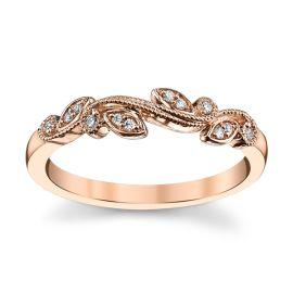 14k Rose Gold Diamond Wedding Band .04 ct. tw.