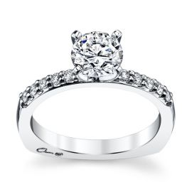 Pre-Owned A. Jaffe 14k White Gold Diamond Engagement Ring Setting 1/5 ct. tw.