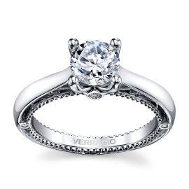 Verragio 18k White Gold Diamond Engagement Ring Setting .04 ct. tw.