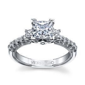 Verragio 14k White Gold Diamond Engagement Ring Setting 1/2 ct. tw.
