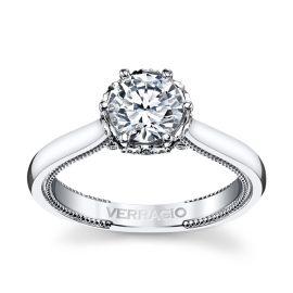 Verragio 14k White Gold Diamond Engagement Ring Setting 1/8 ct. tw.